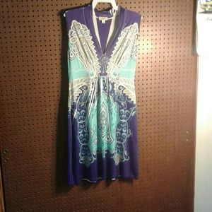 2 for $20 High Collared Pattern Dress